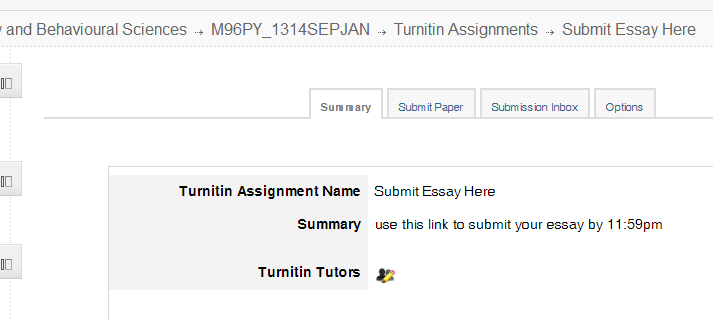 turnitin open page